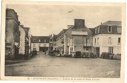 29 - ROSPORDEN - L'Avenue De La Gare Et L'Hôtel Continental 159 - Andere Gemeenten