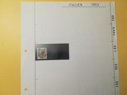 PAGINA PAGE ALBUM ITALIA ITALY 1953 SIRACUSANA ATTACCATI PAGE WITH STAMPS COLLEZIONI LOTTO LOTS - Lotti E Collezioni
