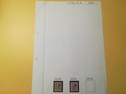 PAGINA PAGE ALBUM ITALIA ITALY 1960 SIRACUSANA ATTACCATI PAGE WITH STAMPS COLLEZIONI LOTTO LOTS - Lotti E Collezioni