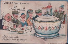Voulez-vous Voir Marseille Pays Très Visité Cuisine Très Appréciée (Carte à Système) - Otros