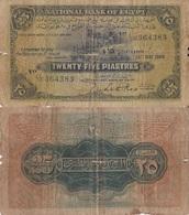 Egypt / 25 Piastres / 1948 / P-10(d) / VG - Egitto