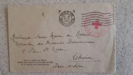 ENVELOPPE 1940  CROIX ROUGE DE BELGIQUE VENDU AU BENEFICE DE L'OEUVRE ASILES DES SOLDATS INVALIDES BELGES - Marcophilie (Lettres)