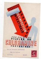 Carton Pubicitaire  Chloramine. Preoblitéré Semeuse 20 C.  Docteur Seguinard. Bazas. - 1893-1947