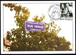 """Belgique - COB. N° 3249 Sur CM - Oblitération 1 Ier Jour """"CEROUX-MOUSTY - 13-3-2004"""" - HERGE, Dessinateur De TINTIN. - Cartes-maximum (CM)"""