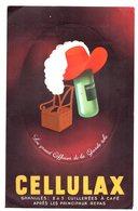 Carton Pubicitaire  Cellulax. Preoblitéré Semeuse 10 C.  Docteur Seguinard. Bazas. - 1893-1947