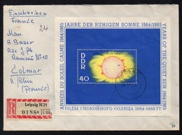 RDA - DDR / 1964  BLOC # 16 SUR LETTRE RECOMMANDEE POUR COLMAR (ref LE3992) - [6] Democratic Republic