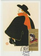 Carte Maximum FRANCE N°Yvert 2649a (Aristide BRUANT) Obl Sp Ill Valenton (Toulouse-Lautrec - Ed Hazan) - 1990-99