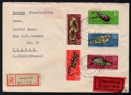 RDA - DDR / 1963  SERIE SUR LETTRE RECOMMANDEE POUR COLMAR (ref LE3996) - Briefe U. Dokumente