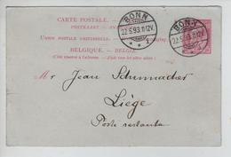 CBPN183/ Entier CP Réponse Type 46 C.Bonn 22/5/93 > Liège En Poste Restante - AK [1871-09]