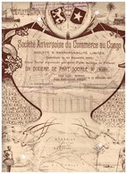 Titre Ancien - Sté Anversoise De Commerce Au Congo - Sté à Responsabilité Limitée -Titre De 1897 - Deco - Rare - Afrique