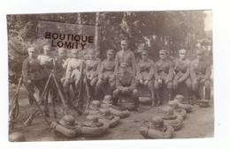 Militaire Guerre 1939 1945 Petite Photo Groupe Soldats Allemands 7x4.4cm - War 1939-45