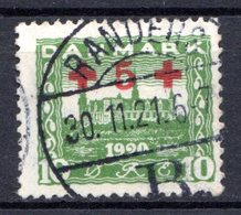 DANEMARK (Royaume) - 1921 - N° 130 - + 5 S. 10 Vert - (Au Profit De La Croix-Rouge) - Used Stamps