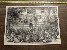 1860 ILL GRAVURE MASSACRES PAR LES DRUSES DES MARONITES REFUGIES DANS LA COUR DU CONSULAT DE FRANCE A DAMAS - Non Classés