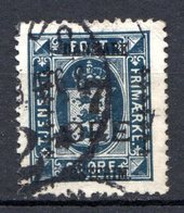 DANEMARK (Royaume) - 1926 - N° 180 - 7 S. 20 Bleu Foncé - (Timbre De Sevice De 1915-24) - Gebraucht