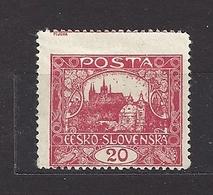 Czechoslovakia 1919 MH * Mi 27 D Gez. Sc 45 Hradcany At Prague.Tschechoslowakei C4 - Tchécoslovaquie