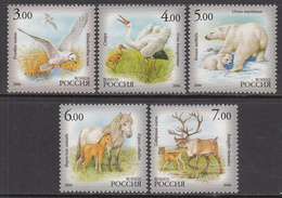2006 Russia Fauna Sakha Birds Cranes Polar Bears Horses Complete Set Of 5 MNH - 1992-.... Föderation