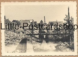 Foto Jodoigne Brücke Stadt Nach Bombardement Trümmer Behelfsbrücke Pont 2. WK Pi. Btl. 50 - Guerra 1939-45