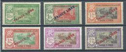 Etablissements Dans L'Inde YT N°137-141-142-144-145-146 Temple Surchargé FRANCE LIBRE Neuf/charnière * - Indien (1892-1954)