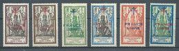 Etablissements Dans L'Inde YT N°177-178-179-180-181-182 Dieu Brahma Surch. FRANCE LIBRE Et Croix De Lorraine Neuf/cha. * - India (1892-1954)