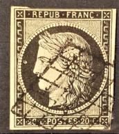 FRANCE 1849 - Canceled - YT 3a - 20c - 1849-1850 Ceres