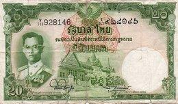 TAILANDIA  20 BAHT  1953 P-77 - Thailand