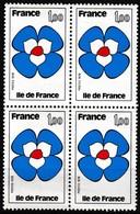 Bloc De 4 Timbres-poste Gommés Neufs** - Régions Île-de-France - N° 1991 (Yvert) - France 1978 - Unused Stamps