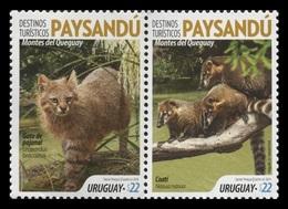 Uruguay 2019 Mih. 3649/50 Fauna Of Paysandu. Pantanal Сat And Nasua MNH ** - Uruguay