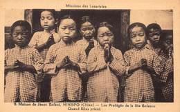 CPA CHINE - Maison De Jésus Enfant, NINGPO ( Chine ) - Les Protégés De La Ste Enfance, Quand Elles Prient - China