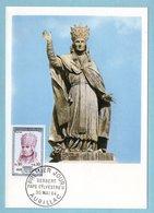 Carte Maximum 1964 -  Gerbert - Pape Sylvestre II - YT 1421 - Aurillc - Maximum Cards
