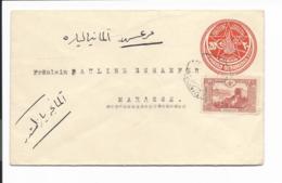 Türkei U 35 ZF - 20 Pa. Umschlag M. 20 Pa. ZF Nach Marasch Bedarfsverwendet - 1921-... Repubblica
