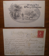 WIshing You A Merry Christmas - Viaggiata 1912 Anni '10 USA United States Stati Uniti (C) - Honduras