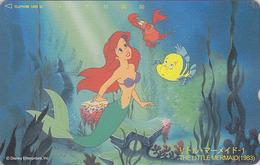 TC NEUVE JAPON / 110-195350 - DISNEY - Série Film 1/3 - ARIEL SIRENE - MERMAID Shell - JAPAN Movie MINT Phonecard  37/45 - Disney