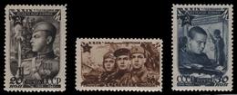 Russia / Sowjetunion 1947 - Mi-Nr. 1111-1113 A ** - MNH - Rote Armee - 1923-1991 UdSSR