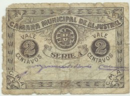 ALJUSTREL - Cédula De 2 Centavos - M.A. 156 - Used - ND - Portugal - Emergency Paper Money - Notgeld - Portugal