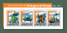 Guinea Bissau 2014    Vietnam War ,tank ,helicopters - Guinea-Bissau
