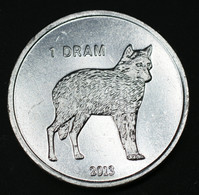 Artsakh ,Nagorno-Karabakh (Berg-Karabach) 1 Dram (Wolf) 2013 Km28 Animals Münze Coin - Nagorno-Karabakh