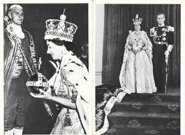 Couronnement De La Reine D'Angleterre Elizabeth II - Lot De 10 Cartes (complet?) La Cigogne Non Circulées - Koninklijke Families