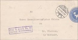 Herzogliches Kreisdirektorium Braunschweig - Helmstedt 1909 Nach Steinum/Rottorf - Germania