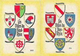 Les Villes Du Bas Et Du Haut Rhin - Armoiries, Blasons (Colmar, Mulhouse, Sélestat, Molsheim, Saverne...) - Alsace