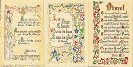 Prières Et Citations Avec Enluminures - Lot De 7 Cartes Illustration, Edition Roussel Graveur - Filosofía & Pensadores