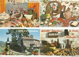 Cp , Recette De Cuisine ,  LOT DE 8 CARTES POSTALES DE RECETTES - Ricette Di Cucina