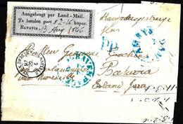 903 - NEDERLAND INDIAS - 1847 - BATAVIA FORERUNNER - COVER - FORGERY, FALSE, FAKE, FAUX, FALSO, FALSCH - Briefmarken