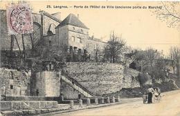 LANGRES : PORTE DE L'HOTEL DE VILLE - Langres