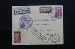 LIBAN - Enveloppe Pour Paris Par 1er Vol Beyrouth / Marseille En 1929, Affranchissement Plaisant - L 54376 - Covers & Documents