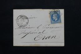 FRANCE / ALGÉRIE - Lettre De St Denis Du Sig Pour Oran En 1868, Affranchissement Napoléon GC 5070 - L 54380 - 1849-1876: Periodo Clásico