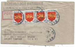 BLASON 50C GUYENNE X4  PETITE BANDE PERIODIQUE COMPLETE PARIS 1952 - 1941-66 Coat Of Arms And Heraldry