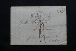 FRANCE - Lettre De Marseille Pour Occiglioni  ( Corse ) - L 54384 - 1801-1848: Precursors XIX