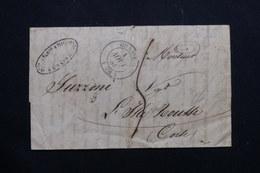 FRANCE - Lettre De Grasse Pour L'Île-Rousse ( Corse ) En 1838 - L 54386 - 1801-1848: Precursors XIX