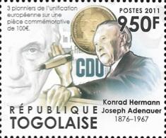 Togo German Konrad Adenauer Germany 1v Stamp Michel:4313 - Famous People