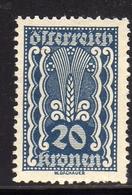 AUSTRIA ÖSTERREICH 1921 AGRICULTURE AGRICOLTURA 20K MNH - Nuovi